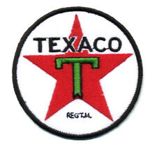 texaco patch badge gasoline motor oil hot rod drag race filling station iron on