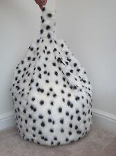BEAN BAG COVER ONLY FAUX FUR CHILDRENS 3 CUBIC FT SIZE NEW LUXURIOUS DALMATIAN
