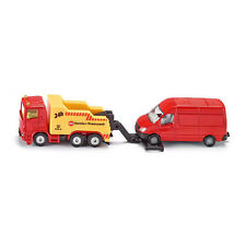 Siku 1667 Scania Tow truck with Sprinter in red (Blister pack) new! °