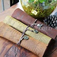 Retro Pirates Map Engraved Suede Leather Roll Up Pencil Case Mackup Brush Bag