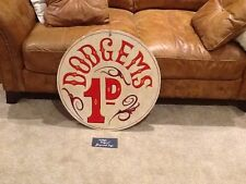Vintage Painted Dodgem Fairground Sign