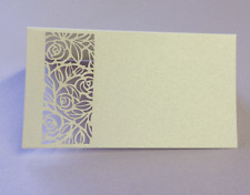 20 NAME PLACE TABLE CARDS 'LATTICE ROSE' LASER CUT Size 50mm x 90mm BARGAIN!!!