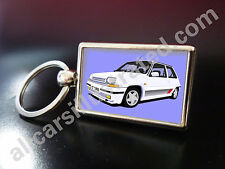 RENAULT 5 GT TURBO METAL KEY RING. CHOOSE YOUR CAR COLOUR.