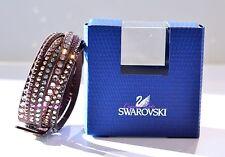Swarovski Crystal Slake Brown Deluxe Bracelet 5141349 Authentic Brand New In Box