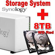 8TB (2x4TB) WD Red Synology Disk Station DS216j Netzwerkspeicher Gigabit NAS