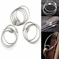 10 PCS Stainless Steel Wire Keychain Key Ring Aircraft Cable With Screw Locking