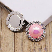 10pcs 15mm Round Rhinestone Pearl Cluster Wedding Rhinestone Button DIY Buckle t