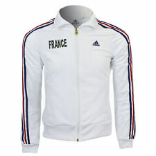 New Woman's football FRANCE ADIDAS sweatshirt ZIP TRACKSUIT TOP size M