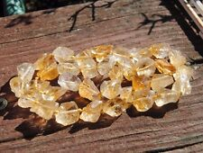 "Bright Golden Natural Gemstone   Citrine Nuggets 16""strand"