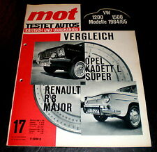 MOT 17/64 Vergleichstest Renault R 8 Major mit Opel Kadett L, VW-Modelle 1964/65