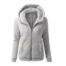 Womens Thicken Fleece Fur Warm Winter Coat Hooded Parka Overcoat Jacket Outwear