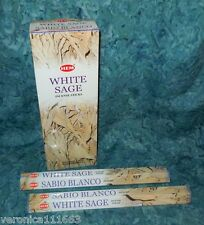 White Sage 40 Incense Stick NEW Sealed HEM Purify Sacred Spaces Promote Wisdom