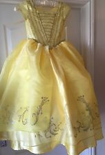 Beauty And Beast Belle Golden Costume Disney New Movie Age 7/8  Years Princess