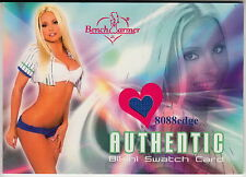 2004 BENCHWARMER AUTHENTIC BIKINI: MARY RILEY - WORN SWATCH CARD SEXY BLONDIE