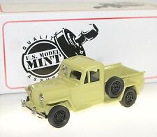 US Model Mint/Brooklin US-17, 1949 Willys Jeep Pick-Up, Universal Beige, 1/43