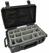 Black SKB Case With padded dividers & Pelican 1510 Lid organizer & 2 Tsa Locks