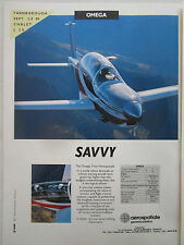 9/1990 PUB SOCATA AEROSPATIALE OMEGA AIRCRAFT MILITARY TRAINER FARNBOROUGH AD