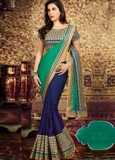 Designer Bollywood Indian Saree Fabric Georgette Embroidered Party wear Sari
