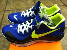 Rare: Nike HYPERFUSE LOW Mens Low BASKETBALL Shoe (Blue/Volt) OG Sz10 Never Worn