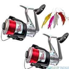 Sea Fishing Reel x 2 Vigor Silk 70 Big Fixed Spool Lineaeffe Beach Pier + Line