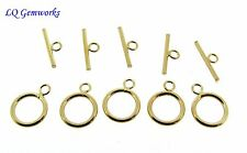 FIVE (5) 14k GOLD FILLED 11mm Toggle Clasps