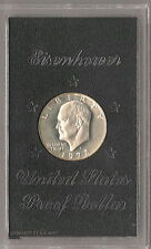 1972-S Silver Proof Eisenhower Ike Dollar : Original Brown Box US Mint Packaging