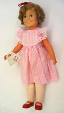 """EA168 Vintage Ideal Shirley Temple 16"""" Doll 1972 with marked shoes and purse"""