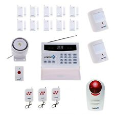 Fortress Wireless Security Landline Alarm System Pet Immune Detect Sensor Siren