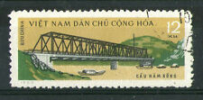 VIETNAM 1964 STEAM LOCOMOTIVE ON BRIDGE COMMEMORATIVE STAMP SG N315  VFU