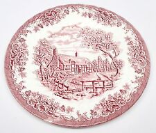 Churchill - The Brook Pink - Dinner Plate - Staffordshire Mark - England
