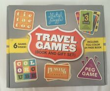 Travel Games Box Set Mud Puddle Books Metal Mini 7 Chess Checkers Tic Magnetic