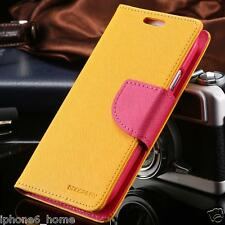 Genuine MERCURY Goospery Yellow Flip Case Wallet Cover For iPhone 6/6s PLUS