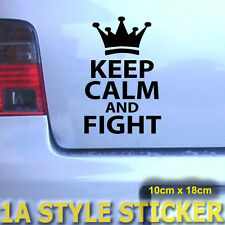 KEEP CALM AND FIGHT STICKER TURBOSCHNECKE LOVE CAR TURBO SHOCKER TICKETHALTER 10