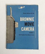 Vintage Eastman Kodak Brownie Movie Camera Model 2 Operational Booklet Mansfield