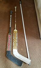 Sher-Wood Feather-Lite 5030SC Goalie Stick Hockey S.O.P. Canada & 510 JR LOT/2