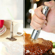 Thumb Push Salt Pepper Grinder Spice Sauce Stainless Steel Mill Grind Stick