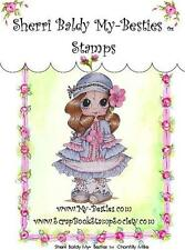 NEW My-Besties Clear cling Rubber Stamp CHANTILLY MILLIE GIRL  free usa ship