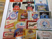 61 Different Wisconsin Beer Labels Unused