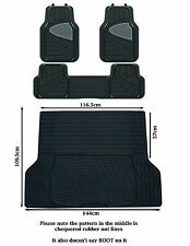 CITROEN BERLINGO MULTISPACE HEAVY DUTY CAR RUBBER BOOT & 3 PIECE CAR MAT SET
