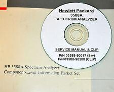 HP Hewlett Packard 3588A Spectrum Analyzer Service 2-volumes with SCHEMATICS !!!