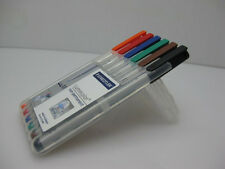 6 pack STAEDTLER Lumocolor Non-permanent Universal marker pens Made in Germany