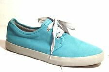DEKLINE MENS CASUAL ATHLETIC BOAT SKATE TEXTILE TURQUOISE COMFORT SHOES