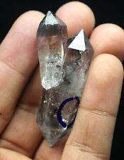 21.3g  NATURAL Black Phantom skeletal Enhydro Crystal Double end Specimen