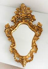 Superbe miroir en bois sculpté & doré, fin du XIX ème siècle, de style baroque.