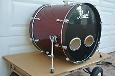 "ADD this PEARL FORUM SERIES 22"" BASS DRUM in RED WINE to YOUR DRUM SET! #V700"