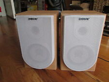 """PAIR OF Sony SS-CNE3:  BOOK SHELF SPEAKERS - Tested - Sound Great 9"""" Tall 6 Wide"""