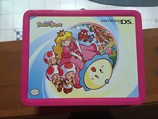 Nintendo DS Lite Lunchbox Metal Tin Carrying Case Storage Super Princess Peach