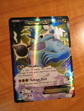 FULL ART Pokemon THUNDURUS EX Card ROARING SKIES Set 98/108 XY X Y Ultra Rare