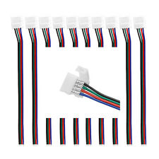 20 X 10mm 4 Pin Wire Connector with Cable For SMD LED 5050 RGB Strip
