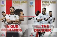 * ENGLAND v MONTENEGRO & v POLAND  2013 - BOTH WORLD CUP QUALIFIERS PROGRAMMES *